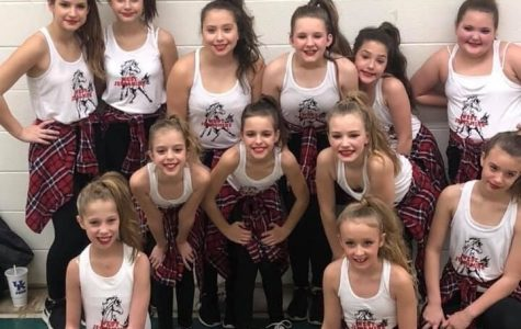 The WJMS Dance Team performs at football and basketball games.
