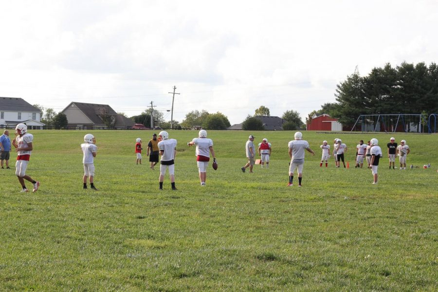 The West Jessamine Middle School team has a scrimmage to prepare for the season.