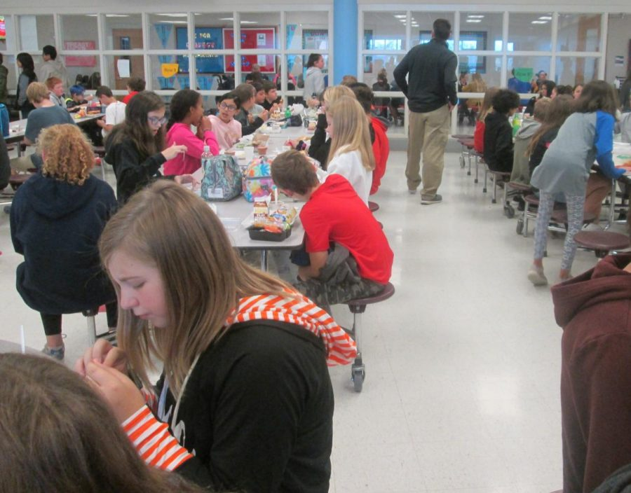 The cafeteria at West Middle during the 2019 school year.